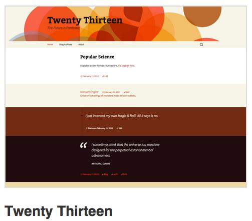 twenty Thirteen - 2013