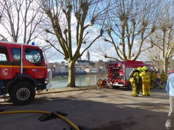 Pompiers de Tournus n'ont pas encore fini leurs manœuvres