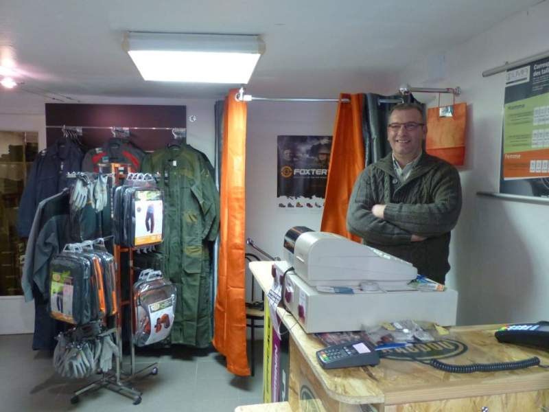 Vincent Perrin vendeur Vêtements de travail tournus