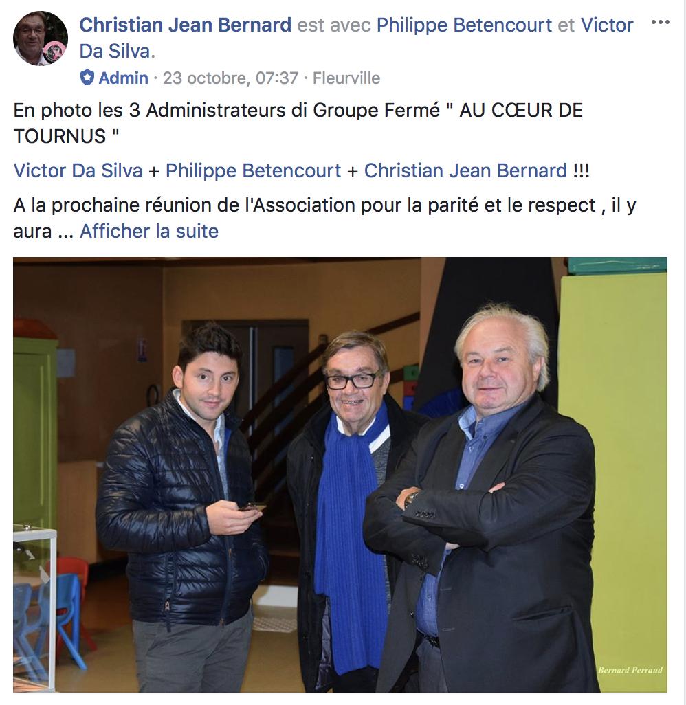 Les TROIS administrateurs du groupe Facebook 'Au cœur de Tournus'