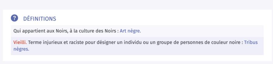Nègre Larousse